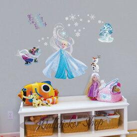 ウォールステッカー ディズニー アナと雪の女王 Disney ディズニー エルサ アナ 雪 壁紙 子供部屋 デコレーション 02P05Nov16