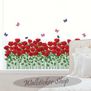 ウォールステッカー バラの庭園 ローズ 薔薇 花 植物 自然 インテリア シール 壁シール 壁紙 北欧 02P05Nov16