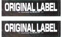 【Julius-K9】ユリウスケーナイン IDCパワーハーネス用アクセサリ Original Velcro Label オリジナルベルクロラベル 【2枚1組】 マジックテープ【サイズS】<ベースカラー:ブラック> [ゆうパケット発送]