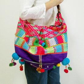 カレン族ショルダーバッグ カレン族 手刺繍 民族衣装 古布