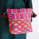 カレン族ポシェット ショルダーバッグ 手刺繍 民族衣装 エスニック