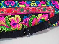 モン族刺繍ヨガマットバッグモン族のカラフルでポップな刺繍布を使ったリメイクバッグトートバッグショルダーバッグ少数民族の手仕事