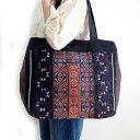 モン族 バッグ モン族手刺繍トートバッグ Aモン族の民族衣装をリメイクした一点ものバッグ