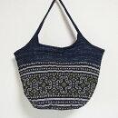 モン族手刺繍グラニーバッグ14大きめアジアンエスニックバッグテ刺しゅう藍染トートバッグショルダーバッグ