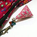 モン族(ミャオ族)手刺繍チャーム キーホルダー バッグチャーム