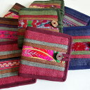 【メール便】モン族財布 刺繍 二つ折り財布
