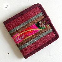 【メール便】モン族刺繍二つ折り財布