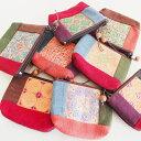 モン族 手刺繍ポーチ 財布 小銭入れ ミャオ族