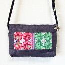 【メール便】モン族手刺繍ポシェットモン族(ミャオ族)ショルダーバッグ