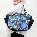 【送料無料】sisi大きいバッグブロックプリント大花ネイビー旅行バッグヨガジムおけいこバッグショルダーバッグトートバッグママバッグマザーバッグ