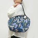 【メール便可】sisiグラニーバッグ120%ビッグサイズブロックプリント大花ネイビーsisバッグブロックプリント布バッグショルダーバッグ