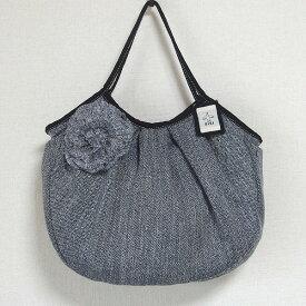 sisi グラニーバッグ 120%ビッグサイズ コサージュバッグ グレイ グレー sisiバッグ A4が入る布バッグ