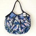【メール便可】sisi グラニーバッグ 定番サイズ ブロックプリント 大花 ネイビーsisiバッグ 布バッグ ショルダーバッグ