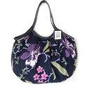 【メール便可】sisi グラニーバッグ 定番サイズ ブロックプリント 新大花 ブラックsisiバッグ 布バッグ ショルダーバッグ