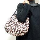 【メール便可】sisiグラニーバッグ定番サイズフェイクファー/エコファーレオパードホワイトヒョウ柄アニマル柄sisiバッグ布バッグショルダーバッグ