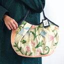 sisi グラニーバッグ 定番サイズ カシミール刺繍 ベージュ&カメオピンク sisiバッグ 布バッグ ショルダーバッグ