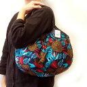 【メール便可】sisi グラニーバッグ 定番サイズ ボタニカル ブルーsisiバッグ 布バッグ ショルダーバッグ