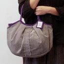 【メール便可】sisiグラニーバッグ定番サイズソファーフリンジグレイsisiバッグ布バッグショルダーバッグ