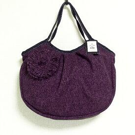 sisiグラニーバッグ 定番サイズ コサージュバッグ パープル sisiバッグ 布バッグ ショルダーバッグ