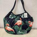 sisiグラニーバッグ定番サイズフラミンゴ鳥柄sisiバッグ布バッグショルダーバッグ