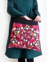 ミラーワーク刺繍ショルダーバッグ インドの刺繍布 肩掛け/斜めがけバッグ