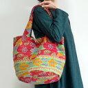 カンタ刺繍 トートバッグ 920 インドの刺し子布 ラリーキルト 肩掛けバッグ