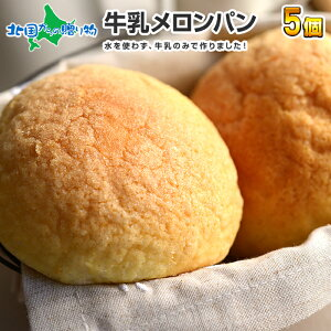 牛乳100%のメロンパン 北海道牛乳100%贅沢メロンパン 5個セット / メロンパン 冷凍 パン 取り寄せ 菓子パン サクサク モチモチ 夏ギフト おやつ 差し入れ 北海道 お土産 お取り寄せ パン 保