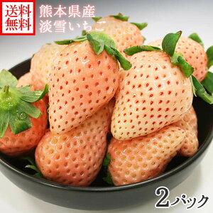 淡雪イチゴ M-3L 200gx2 熊本県産 淡雪 いちご 白い 苺 白イチゴ 白いちご あまい 送料無料 果物 ギフト gift fruit ◆出荷予定:1月下旬 予約順
