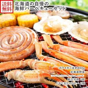 お歳暮 ギフト 北海道 海鮮バーベキューセット 野菜 海鮮 キャンプ バーベキューセット 海鮮 バーベキュー 食材 セット BBQ 蟹 カニ 帆立 貝 ホタテ ぐるぐる ソーセージ 4人前 かに 御歳暮 ギ