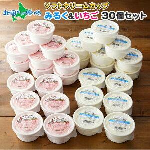 くりーむ童話 北海道 ソフトクリーム アイス 30個 セット 2種 夏 ギフト お中元 アイスクリーム 専門店 いちご みるく イチゴ 苺 アイス ミルク プチギフト お菓子 お取り寄せ スイーツ お中元