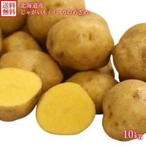 北海道 ジャガイモ インカのめざめ 送料無料 S-Lサイズ 10kg前後 じゃが芋 北海道産 じゃがいも インカのめざめ 10kg 送料無料 lサイズ-sサイズ インカの目覚め 北海道 産地直送 野菜 いんかのめ