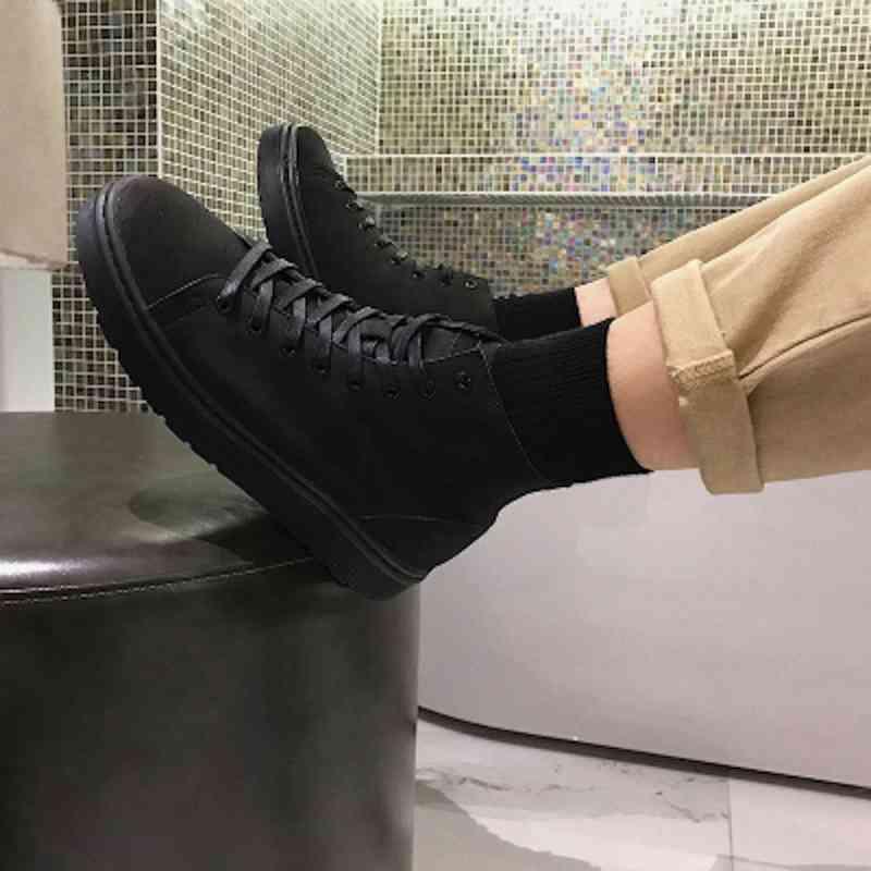 ウォーキングシューズ ブーツ メンズ カジュアルシューズ 靴 軽量 春 夏 秋 冬 ビジネス 軽い 黒 スニーカー e cm shs-1083 【予約商品】