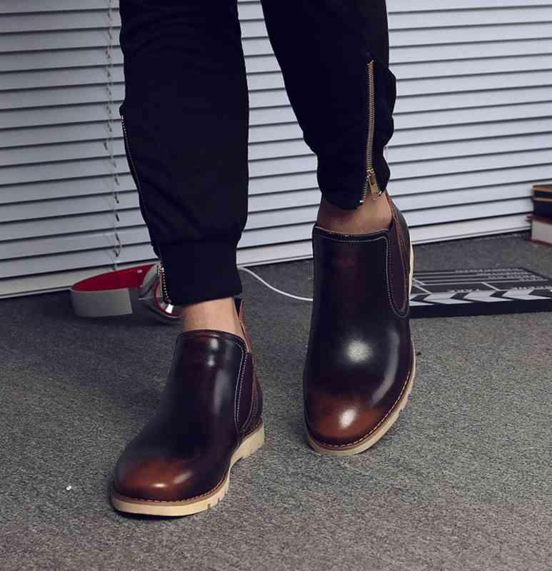ウォーキングシューズ ブーツ メンズ レザーシューズ 革靴 軽量 春 夏 秋 冬 ビジネス 軽い 黒 スニーカー e cm shs-386 【予約商品】