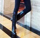 ロングブーツ レディース ローヒール 茶色 美脚 歩きやすい 本革 レザー 長靴 冬靴 軽量 幅広 秋 冬 おしゃれ カジュ…
