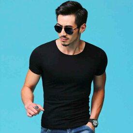 Tシャツ メンズ 無地 おしゃれ 半袖 夏 七分袖 ブランド ネック アメカジ 大きいサイズ スポーツ 黒 白 セール
