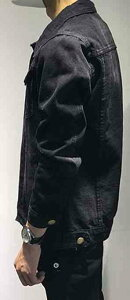 サイズ交換無料デニムジャケットメンズミリタリーカジュアルジージャンGジャンTokyoChrome(トウキョウクロム)