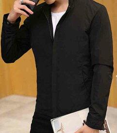 カジュアルジャケット コート ミリタリージャケット 春 冬 シンプル メンズ フォーマル 無地 ビジネス 秋 アウター 大人 黒 予約商品