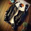 レザージャケット メンズ 革ジャン ブランド ライダースジャケット バイク おしゃれ 20代 春 40代 30代 冬 50代 秋 冬服 本革風 春服 秋服 ブランド カジュアル 大人 ファッション 大きいサイズ オフィス かっこいい お洒落 セール