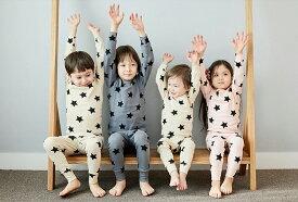 KOKA CHARM コカチャーム CLASSIC STAR 上下セット パジャマ ルームウェア 前開き キッズ 赤ちゃん ベビー服 女の子 男の子 かんこく 韓国子ども服 韓国こども服【韓国子供服 PETIT BEBE-プチベベ】