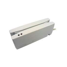 磁気カードリーダー USBバーチャルCOM接続 ホワイト JIS1 JIS2両面読取対応 MJR-350-VCOM 磁気ストライプカード ウェルコムデザイン