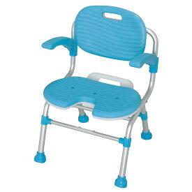 テイコブU型シャワーチェア SC01(背・肘掛け付) | テイコブ 幸和製作所 シャワー椅子 シャワーベンチ 入浴用いす 風呂椅子 U型座面 折りたたみ 座面高さ調節 バスグッズ 入浴サポート 入浴補助 お風呂 浴室 送料無料