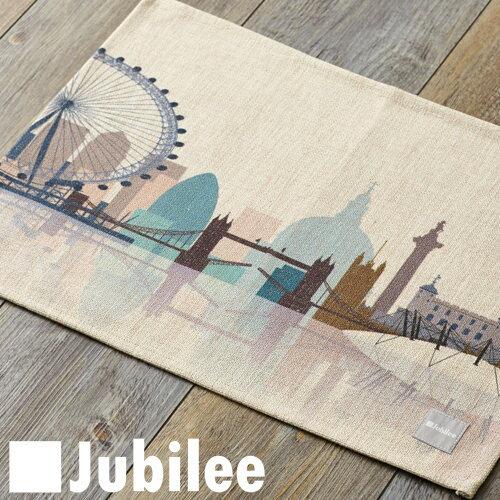 ランチョンマット 北欧 2枚組 ペアセット Jubilee 英国ブランド ティータオル ロンドン スケープ イギリス プレゼント ギフト 新生活 新居 引越し祝い 新築
