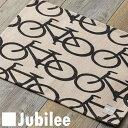 ランチョンマット 北欧 2枚組 ペアセット Jubilee 英国ブランド ティータオル モノクロ バイシクル 自転車 プレゼント ギフト 新生活 新居 引越し祝い 新築