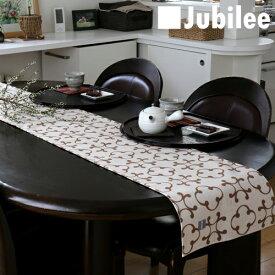 テーブルランナー 北欧 ビンテージクローバー Jubilee 英国デザイン 183×30 ハンドメイド 麻 リネン 撥水 新生活 新居 引越し祝い 新築