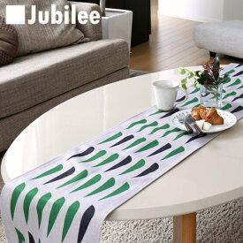テーブルランナー 北欧 パインニードル Jubilee 英国デザイン 183×30 ハンドメイド 麻 リネン 撥水 新生活 新居 引越し祝い 新築