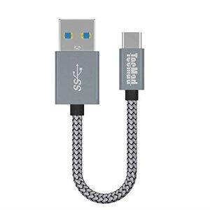 TacMad USB 3.0 Type-C ケーブル (0.2m グレー) USB C機器対応 高耐久ナイロン編み 56Kレジスタ実装 高速データ転送 Switch 、Samsung S8/S8+/note 8、 新しいMacBook Pro/MacBook、Nexus 5X、ChromeBook Pixel 他対応