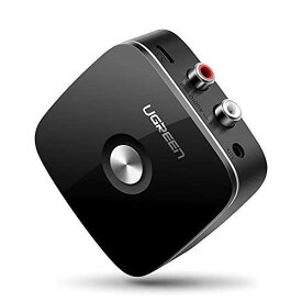 Bluetooth レシーバー オーディオレシーバー 3.5mm RCA ブルートゥース受信機 AAC EDR対応 ワイヤレス 高音質再生 iPhone Android 古いコンポ 車載AUX スピーカー等に適用