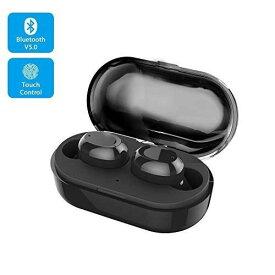 【2019最新版 Bluetooth 5.0 】 Bluetooth イヤホン ワイヤレスイヤホン EDR搭載 3Dステレオサウンド/小型 軽量/ IPX7防水規格/ タッチ式/自動ペアリング/Hi-Fi 高音質/音量調整/Siri対応 iPhone/iPad/Android適用