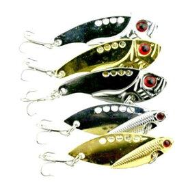 【ノーブランド品】 5個入り スプーン 釣り ハードルアー ベース  クランク  ベイト  振動 釣り タックル ツール