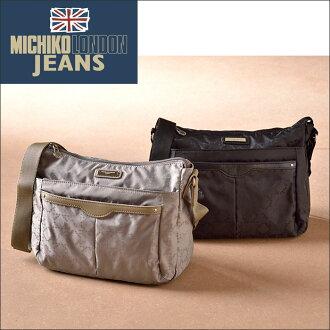 美智子倫敦牛仔褲提花水準挎包挎包,女士們,美智子倫敦牛仔,美智子倫敦拒水、 提花、 緊湊、 輕質、 黑色、 米色、 黑色、 旅行、 michikorondonkosyno 的父親一天禮品贈品時尚品牌